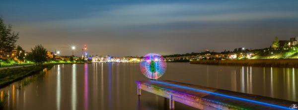 Bild vom Lightpainting am Phönixsee