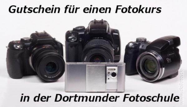 Gutschein für einen Fotokurs in der Dortmunder Fotoschule