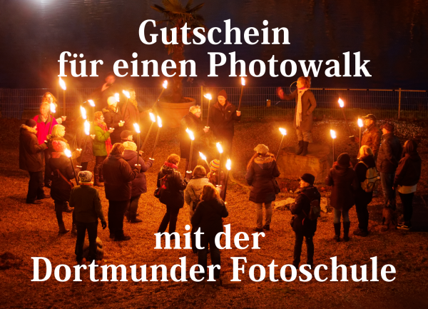 Gutschein für einen Photowalk mit der Dortmunder Fotoschule