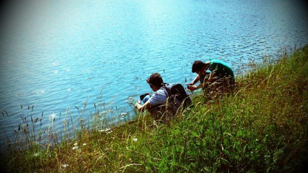 Der Dortmund-Ems-Kanal bietet Kids gerade im Sommer immer wieder spannende Motive