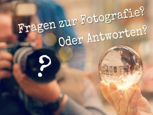 Fragen und Antworten zur Fotografie, Kamera zielt auf Glaskugel
