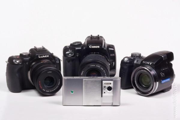 Kameras verschiedener Hersteller, Typen und Klassen