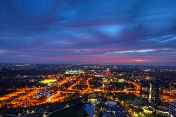 Ausblick vom Florian auf das schönste Stadion der Welt